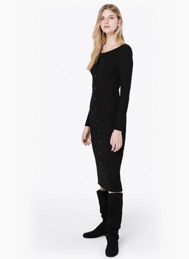 Trok Baskılı Fitilli Elbise-Twist